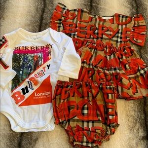 { Burberry } Infant Amy Checkered Set